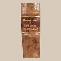 """Book: """"Age of Reason by Thomas Paine"""", Printed 1896"""