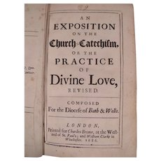 Rare Book: An Exposition on the Church Catechism c1686