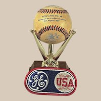 Very Rare 1984 Olympic Game Used Baseball and Patch