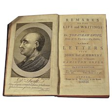 Book: Remarks on the Life and Writings of Jonathan Swift, Dated 1752.