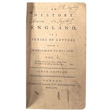 Books: History of England in Letters from a Nobleman to his son c1780