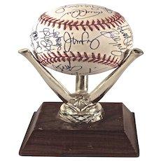 1994 Phillies Teamed Autographed Baseball. Strike Shortened Season!