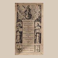 Rare Book: Zodiacus Christianus Iocupletatus Sue Signa XII. c1634, Vellum