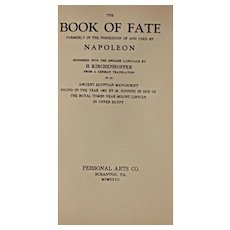 Vintage Book: Napoleon's Guide to the Book of Fate, Dated 1927