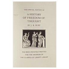 Book: A History of Freedom of Thought, Dated 2006 RARE Volume
