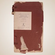 "FINAL SALE Rare Galley Proof of the book ""Behind the Silken Curtain"" by Bartley C. Crum c1947"