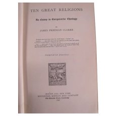 RARE Book: Ten Great Religions: An Essay in comparative Theology c1892.