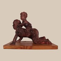 Charming Vintage Sculpture by blind Artist Betsy Clayton