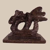 "Extremely Rare Bronze Sculpture by Jacques Lipchitz ""Sketch of Benediction I"" 1942"