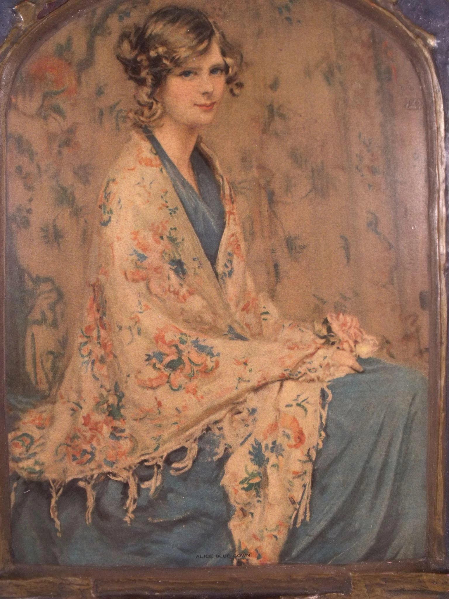 """Lovely Antique """"Alice Blue Gown"""" Gesso panel by Dura Craft SOLD ..."""
