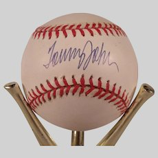 Vintage Tommy John Autographed Baseball