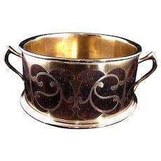 Antique c1900 Erhard & Sohne Bronze Boulle Bowl