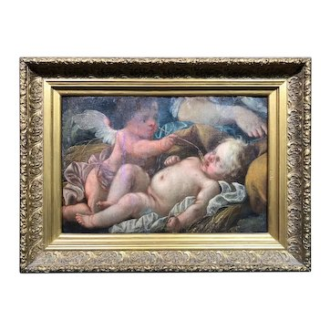 Rare Early Old Master Oil Painting Fragment c1540