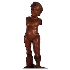 Fine c1620 Carved  Italian Standing Putto