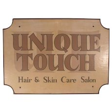 Charming Vintage Hand Painted Salon Sign