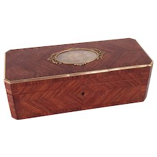 Fabulous c1850 Napoleon III Marquetry Box by Tahan Paris