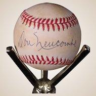 Rare Don Newcombe Autographed Baseball