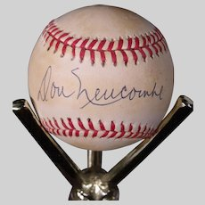 Rare Don Newcombe Autographed Baseball