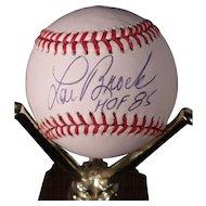 Vintage Lou Brock Autographed Baseball