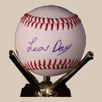 Very Rare Leon Day Autographed Baseball
