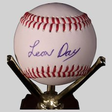 Very Rare Leon Day Autographed Baseball