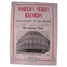 Amazing Rare 1954 TSN World Series Records Book, Autographed