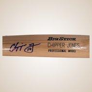 Vintage Chipper Jones Autographed Baseball Bat