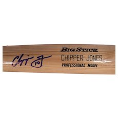 Vintage Chipper Jones Autographed Baseball Bat