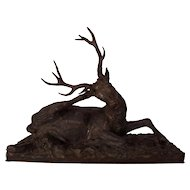 Spectacular French 19th Century Prototype Stag Sculpture by Christophe Fratin