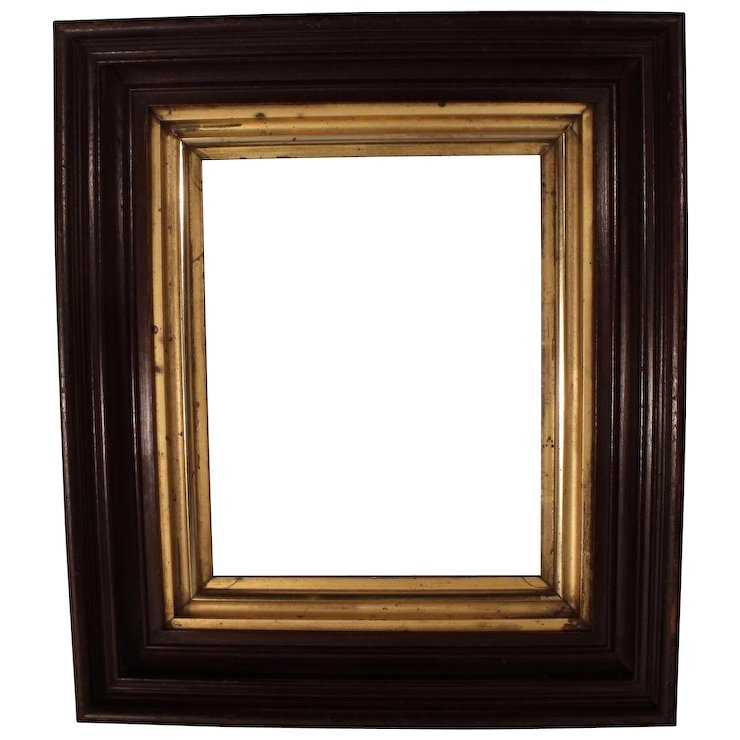 Antique Victorian Deep Shadow Box Picture Frame with Gold Leaf : The ...