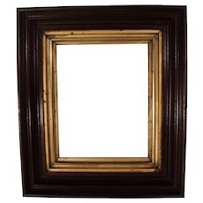 Antique Victorian Deep Shadow Box Picture Frame with Gold Leaf