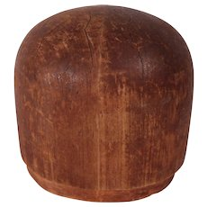 Antique Wood Hat Makers Block or Millinery Form #1
