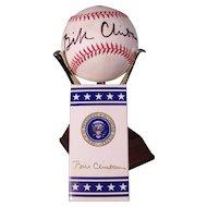 Rare President Bill Clinton Autographed Baseball and M & M's POTUS