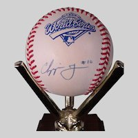 Chipper Jones Atlanta Braves Autographed 1995 World Series Baseball