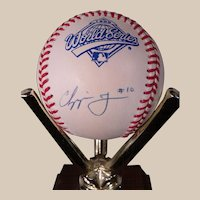 Chipper Jones Atlanta Braves Autographed 1995 World Series Baseball