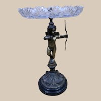 Very Fine Large 1860's French Bronze & Crystal Epergne