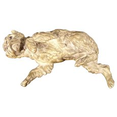 Antique GIROUX 1840's French Bronze Sculptural Dog Paper Weight