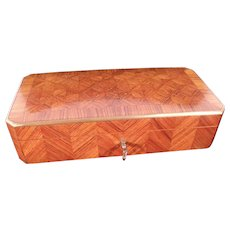 Lovely Antique Vervelle Napoleon III French Marquetry Box