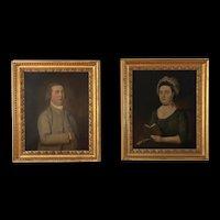 Museum Quality c1790 Large Oil Portraits, Mountford