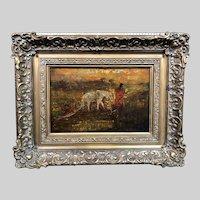 Rare Ralph Albert  Blakelock Oil Painting c1890