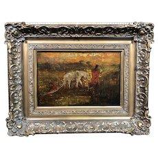 "Exceptional  Ralph Albert  Blakelock  ""The Oak Cart"" Oil Painting c1890, Provenance"