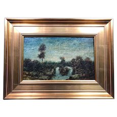 "Ralph Albert Blakelock ""Evening"" Oil Painting c1885 Provenance"