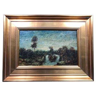 "Ralph Albert Blakelock ""Evening"" Oil Painting c1885 Provenance"