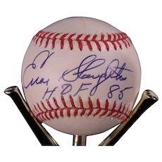 Enos Slaughter HOF 1985 Autographed Baseball