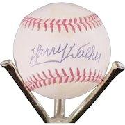 Harry Walker Autographed Baseball