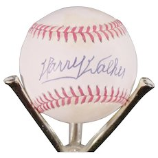 Harry Walker Autographed Baseball