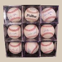 Large Philadelphia Phillies Autograph Baseball Collection