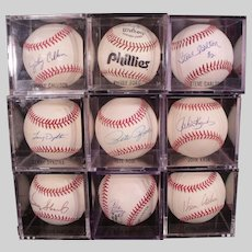 Large Philadelphia Phillies Autograph Baseball Collection