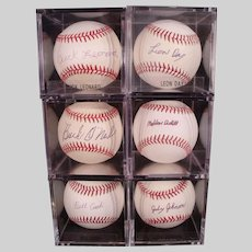 Rare Hall of Fame Baseball Autograph Collection