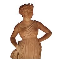 """Lovely Marble Sculpture  c1860,  American copy of  """"Flora"""" by Antonio Canova"""